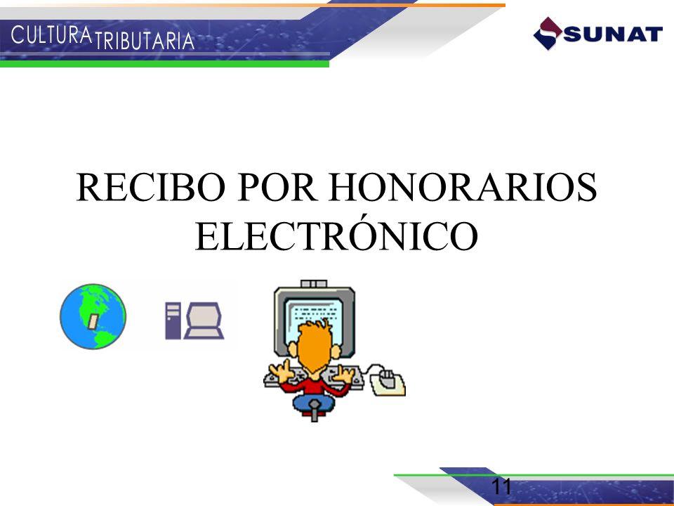 RECIBO POR HONORARIOS ELECTRÓNICO 11