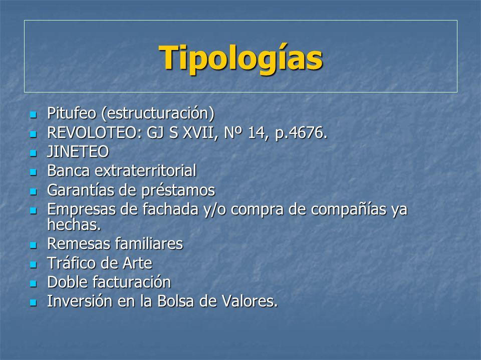Tipologías Pitufeo (estructuración) Pitufeo (estructuración) REVOLOTEO: GJ S XVII, Nº 14, p.4676. REVOLOTEO: GJ S XVII, Nº 14, p.4676. JINETEO JINETEO