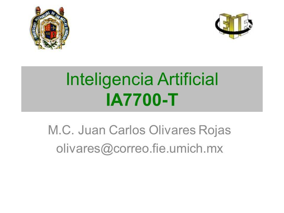 Inteligencia Artificial IA7700-T M.C. Juan Carlos Olivares Rojas olivares@correo.fie.umich.mx
