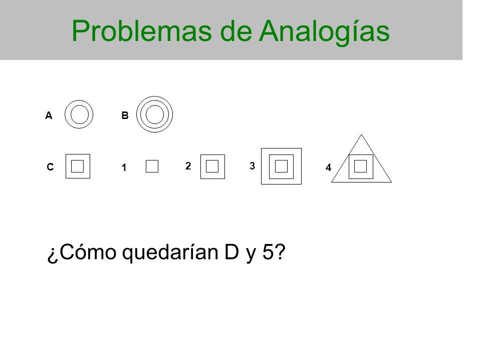 Problemas de Analogías AB C 1 23 4 ¿Cómo quedarían D y 5?
