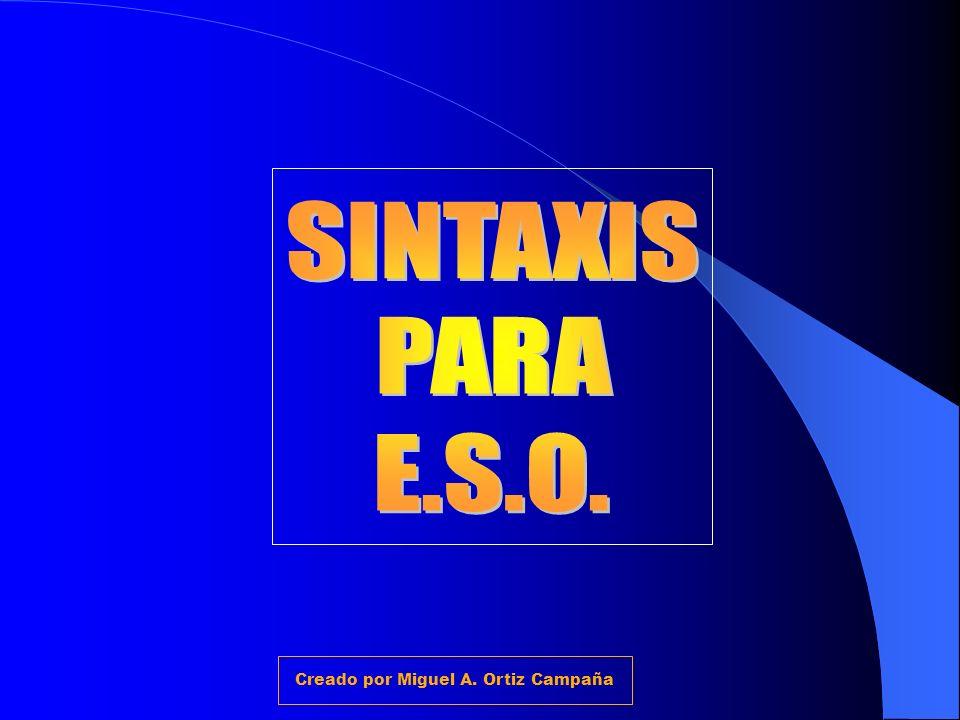 ESTRUCTURA DE LAS ORACIONES COMPUESTAS Creado por Miguel A. Ortiz Campaña