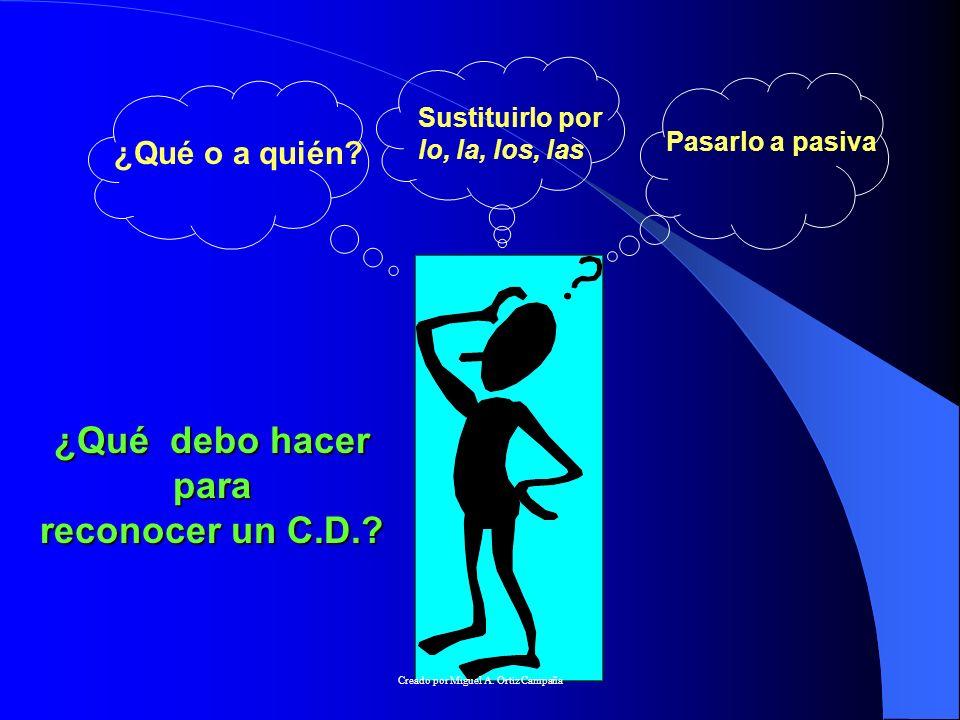 ¿ CÓMO RECONOCER EL C.D..1.La fórmula para reconocer el C.