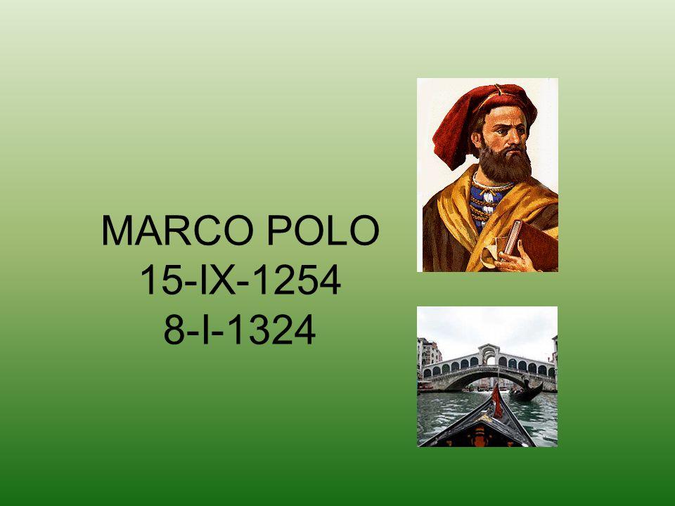 MARCO POLO 15-IX-1254 8-I-1324