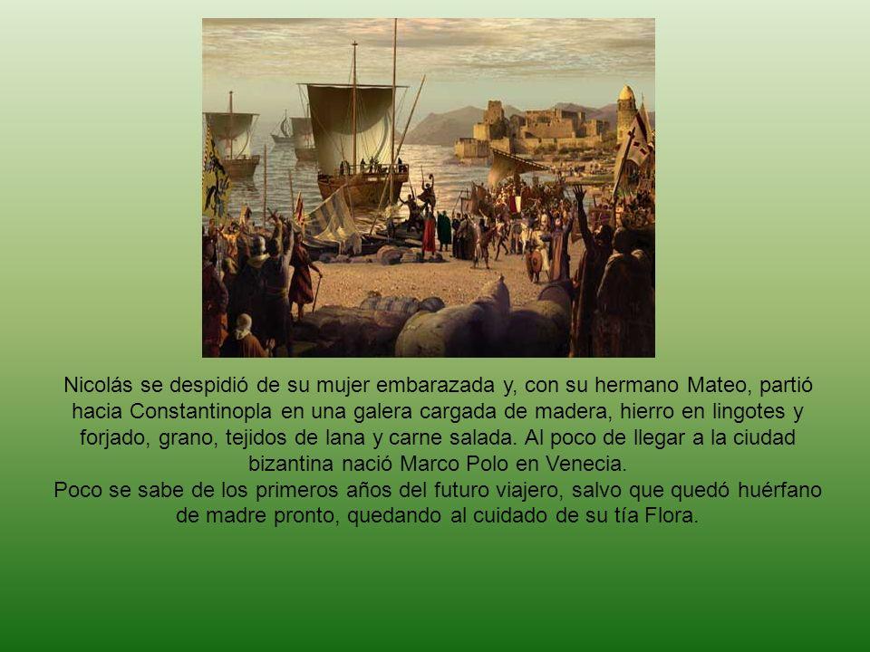 Nicolás se despidió de su mujer embarazada y, con su hermano Mateo, partió hacia Constantinopla en una galera cargada de madera, hierro en lingotes y