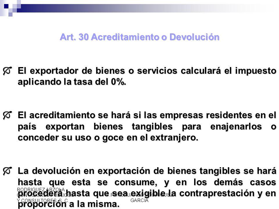 C.P.C. EDUARDO RODRIGUEZ GARCIA RODRIGUEZ ARZOLA CONTADORES PUBLICOS Y CONSULTORES, S. C. Art. 29 (CONT) Tasa 0% VII.Prestación de servicios de hotele