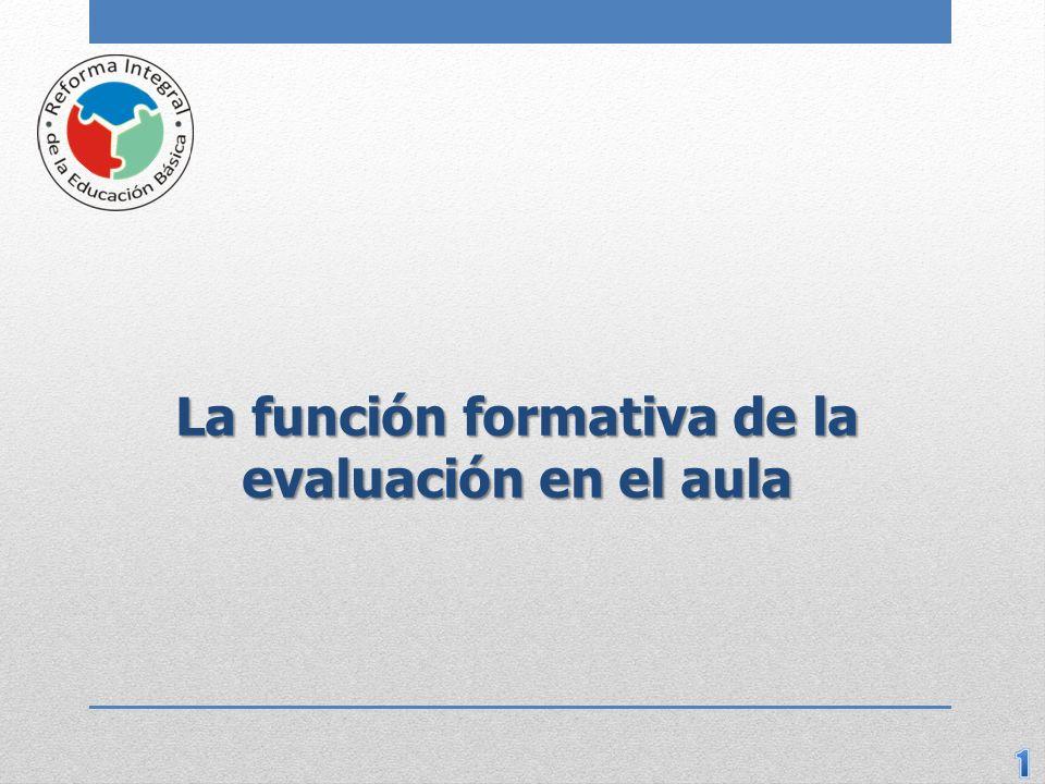 La función formativa de la evaluación en el aula