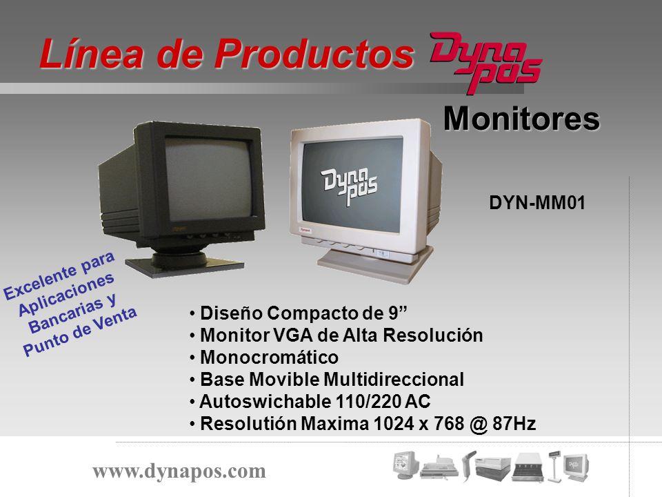 Monitores Diseño Compacto de 9 Monitor VGA de Alta Resolución Monocromático Base Movible Multidireccional Autoswichable 110/220 AC Resolutión Maxima 1