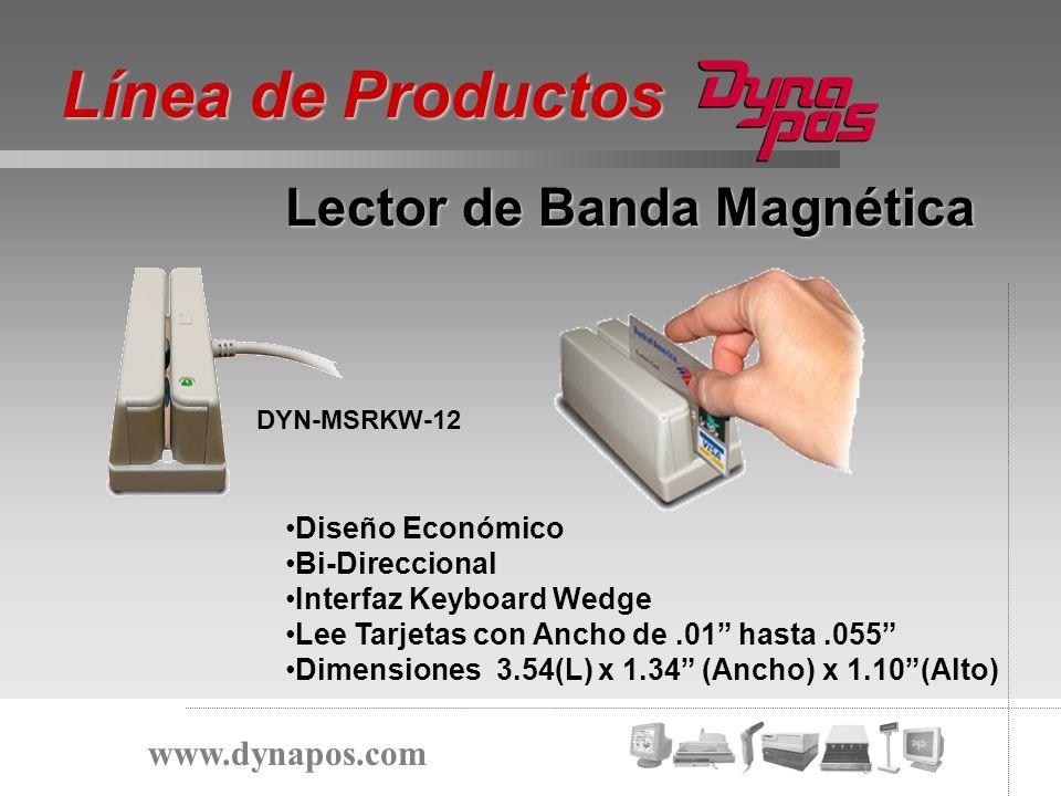 Diseño Económico Bi-Direccional Interfaz Keyboard Wedge Lee Tarjetas con Ancho de.01 hasta.055 Dimensiones 3.54(L) x 1.34 (Ancho) x 1.10(Alto) Lector