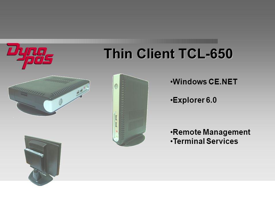 Windows CE.NET Explorer 6.0 Thin Client TCL-650 Remote Management Terminal Services