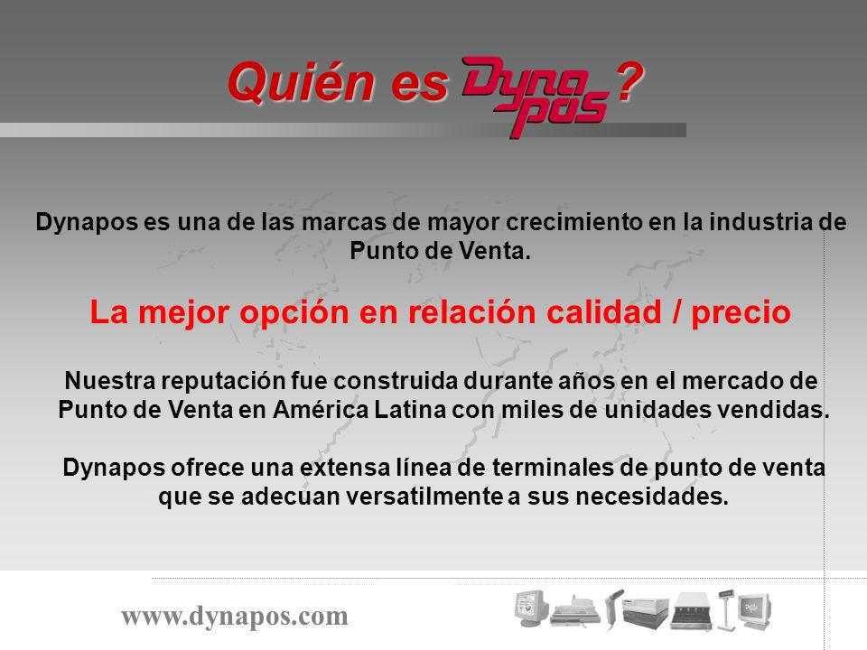 Nuestro Mercado www.dynapos.com Segmento 1 Segmento 2 Segmento 3 Tier 1 Tier 2 Tier 3 1 – 15 Lineas de POS 16 - 50 51 + IBM / HP / NCR DYNAPOS PC CLONES