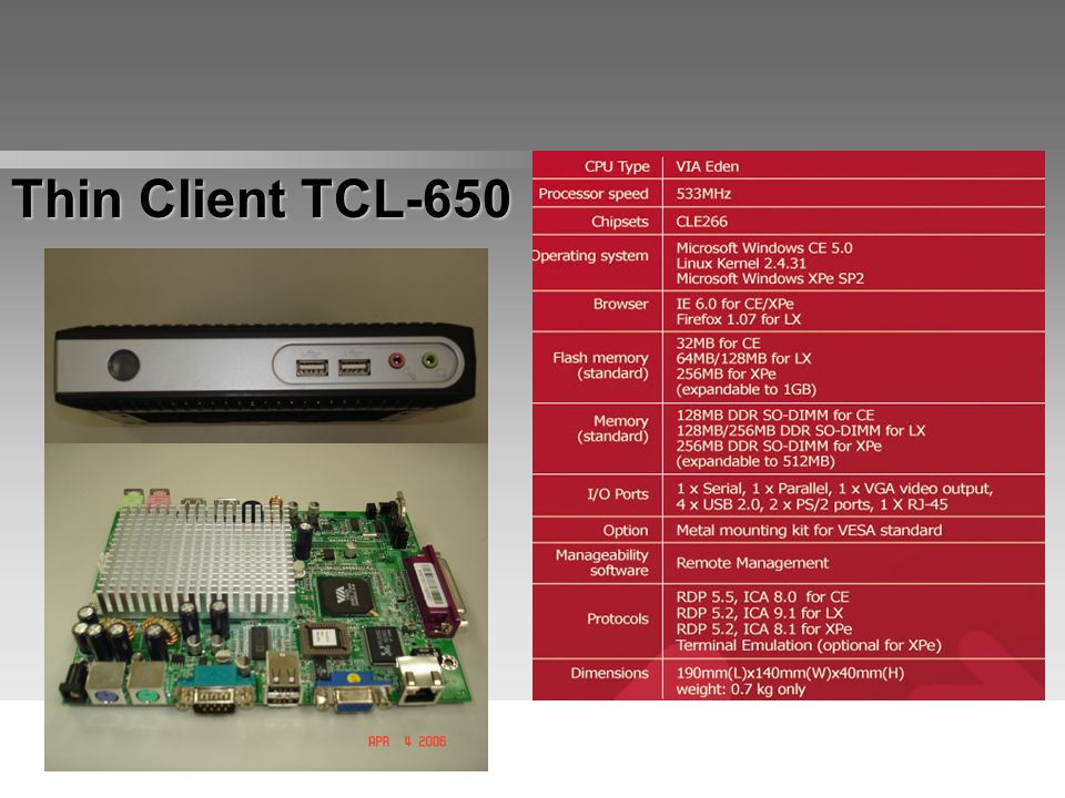 Thin Client TCL-650