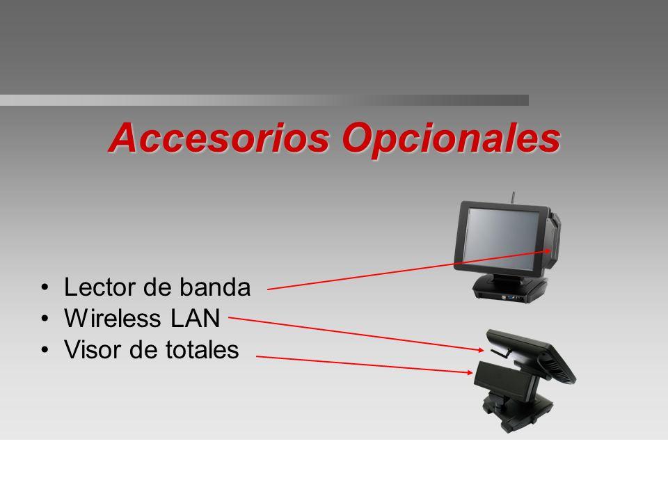 Accesorios Opcionales Lector de banda Wireless LAN Visor de totales