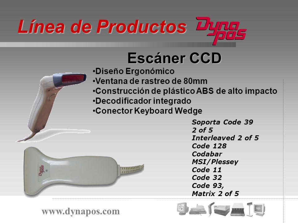 Diseño Ergonómico Ventana de rastreo de 80mm Construcción de plástico ABS de alto impacto Decodificador integrado Conector Keyboard Wedge Escáner CCD