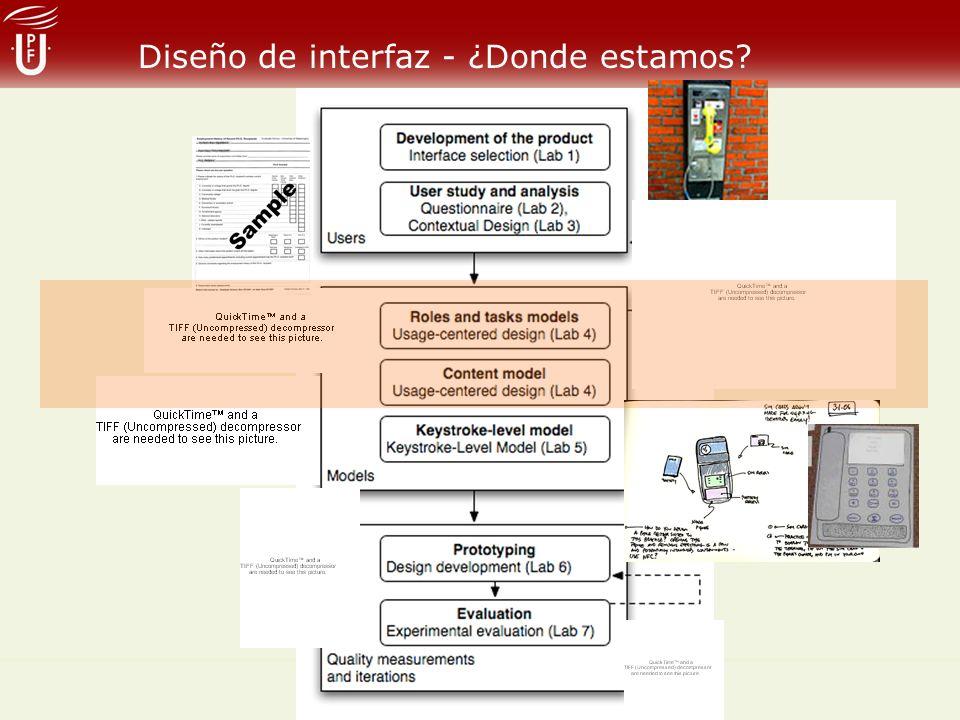 Diseño de interfaz - ¿Donde estamos?