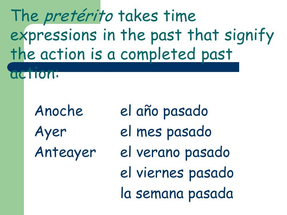 Take a closer look! -ar-er / -ir -é-í -aste-iste -ó-ió -amos-imos -aron-ieron The endings are very similar, except that the –er/-ir verb endings alway