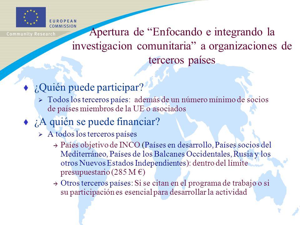 Apertura de Enfocando e integrando la investigacion comunitaria a organizaciones de terceros países t ¿Quién puede participar.