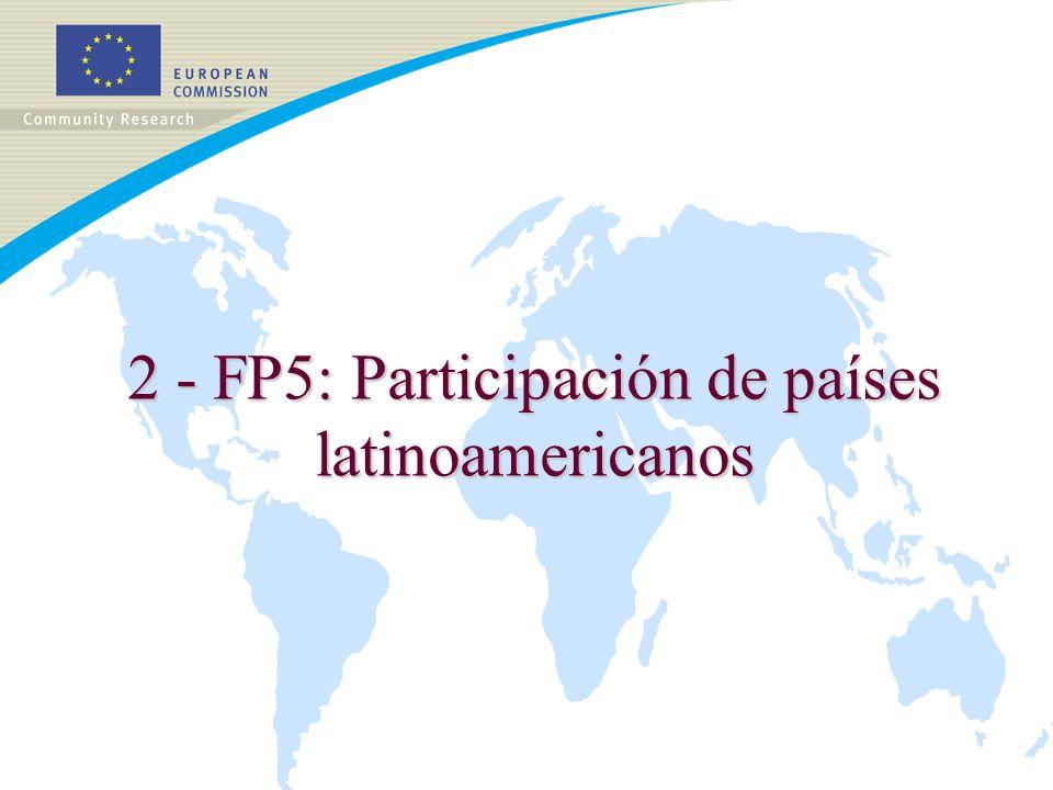 2 - FP5: Participación de países latinoamericanos