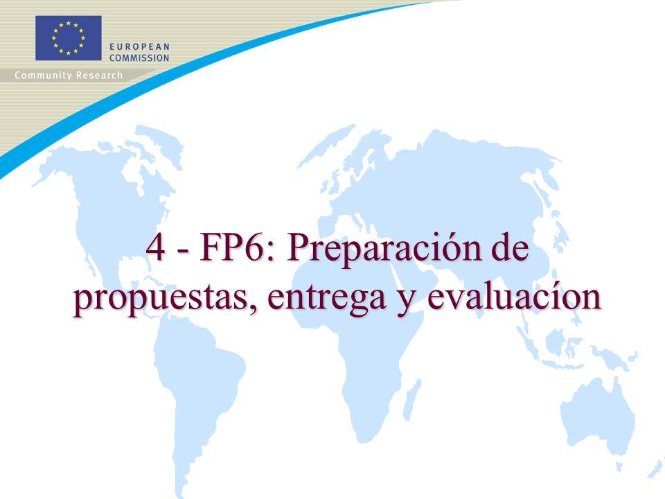 4 - FP6: Preparación de propuestas, entrega y evaluacíon