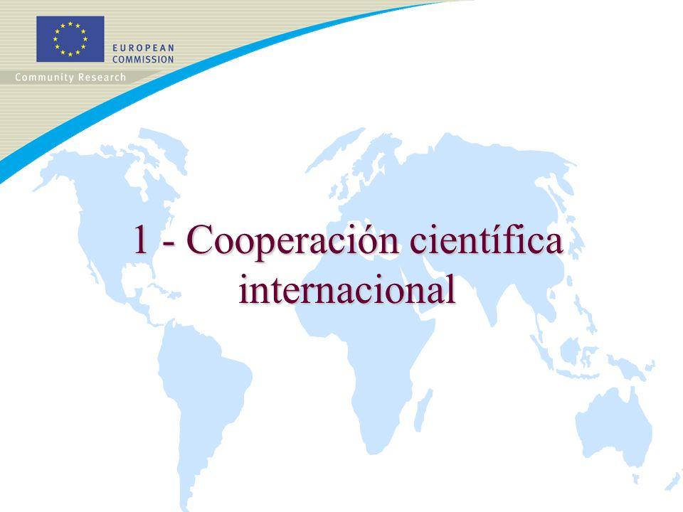 Más información Punto de información INCO: inco@cec.eu.int Inco en la Web : http://www.cordis.lu/fp6/inco.htm Política Europea de Cooperación Científica Internacional: http://europa.eu.int/comm/research/iscp/index_en.html