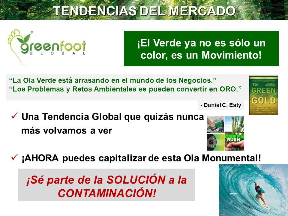 TENDENCIAS DEL MERCADO ¡El Verde ya no es sólo un color, es un Movimiento! Una Tendencia Global que quizás nunca más volvamos a ver ¡AHORA puedes capi