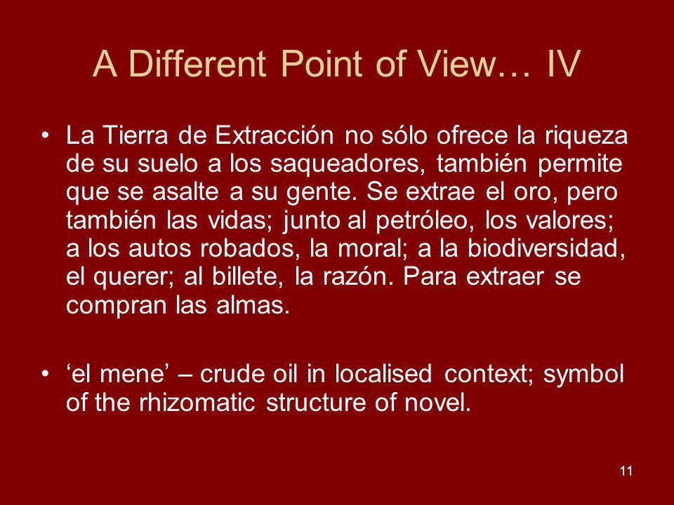 A Different Point of View… IV La Tierra de Extracción no sólo ofrece la riqueza de su suelo a los saqueadores, también permite que se asalte a su gente.