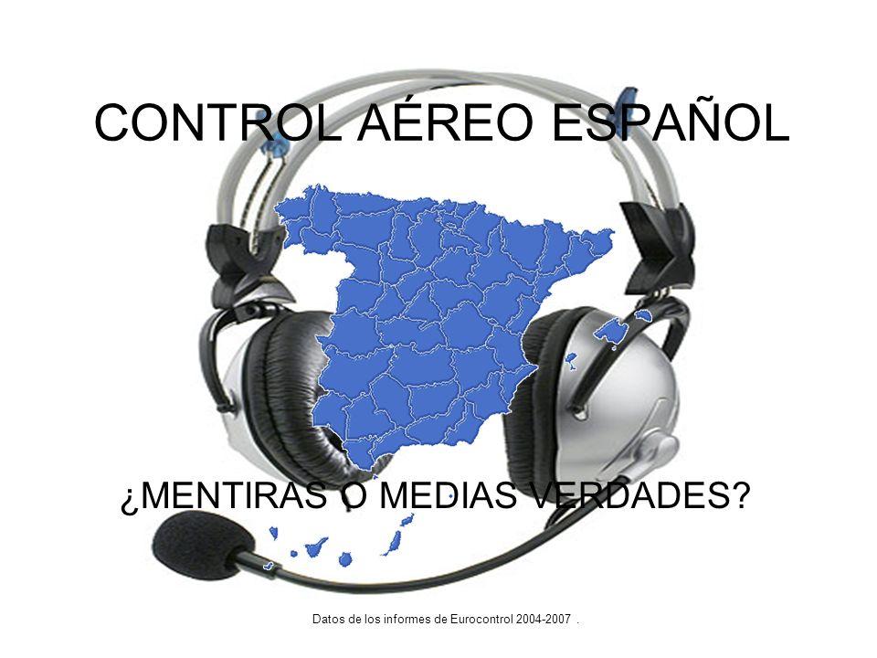CONTROL AÉREO ESPAÑOL Datos de los informes de Eurocontrol 2004-2007. ¿MENTIRAS O MEDIAS VERDADES?