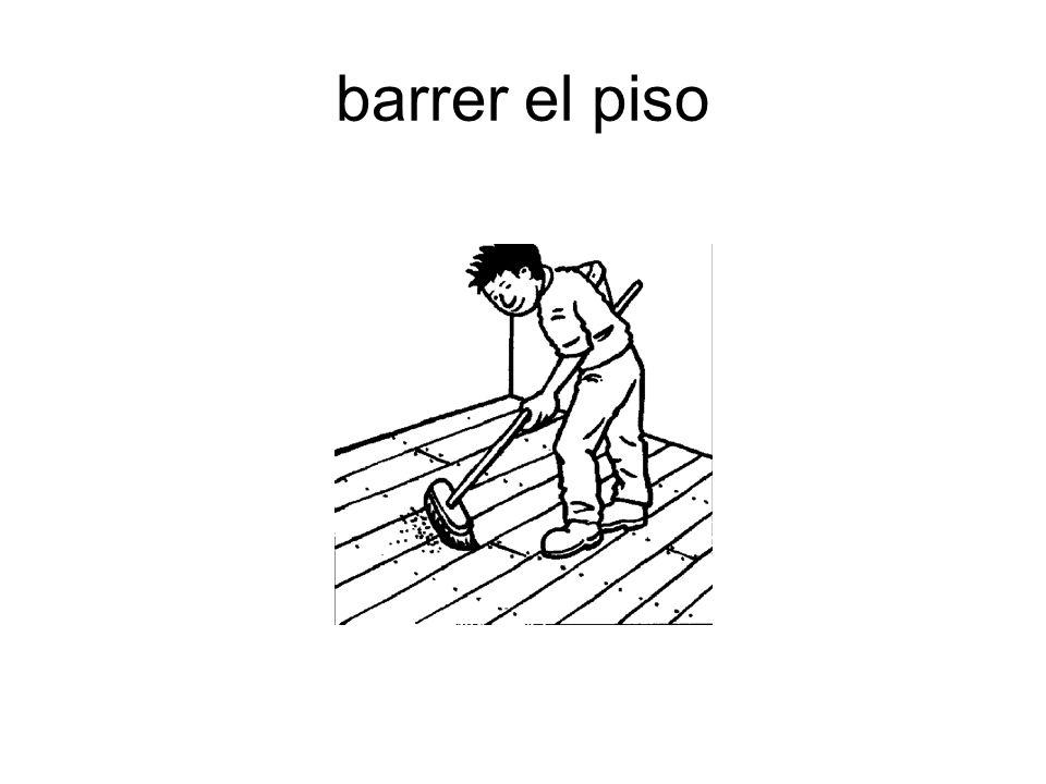 barrer el piso