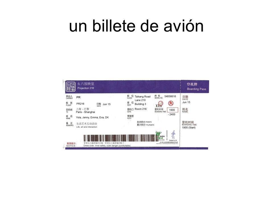 un billete de avión