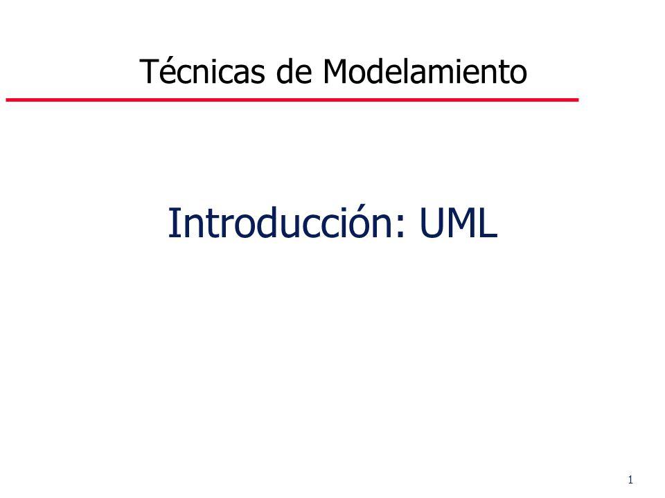 1 Introducción: UML Técnicas de Modelamiento