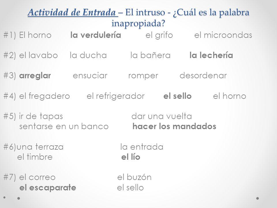 Actividad de Hablar – Traten de formar una frase de descripción EN ESPANOL con las palabras en inglés - mailbox - post office - to send (word from last chapter – 5.1) - stamp A: B: C: D:
