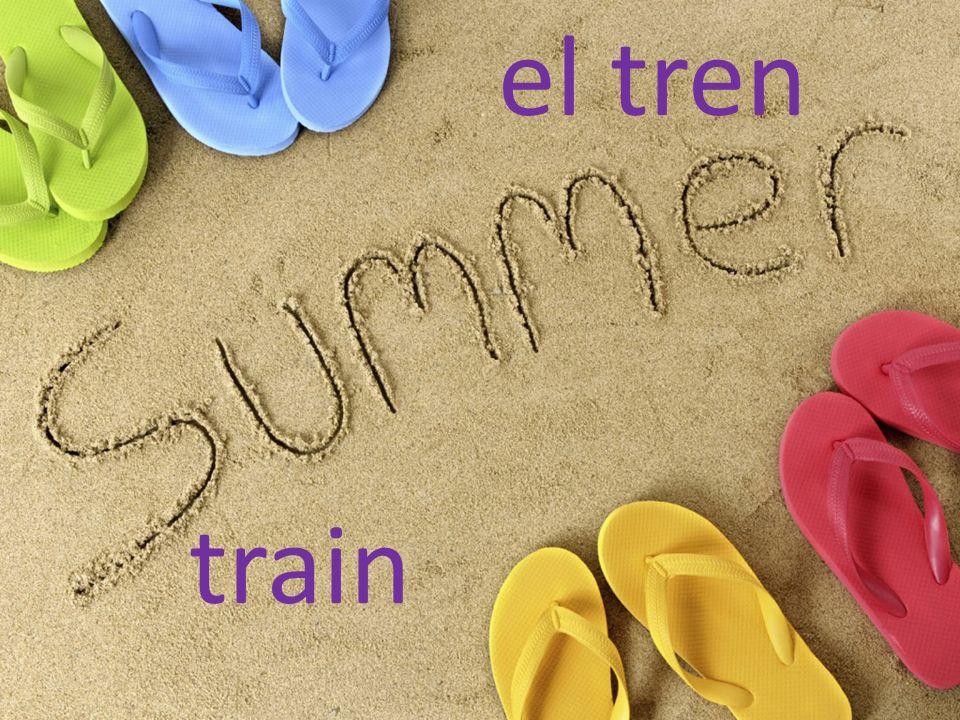 el tren train