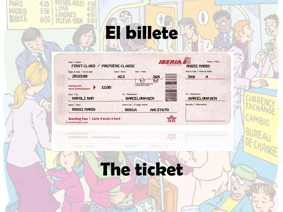 La tarjeta de embarque The boarding pass