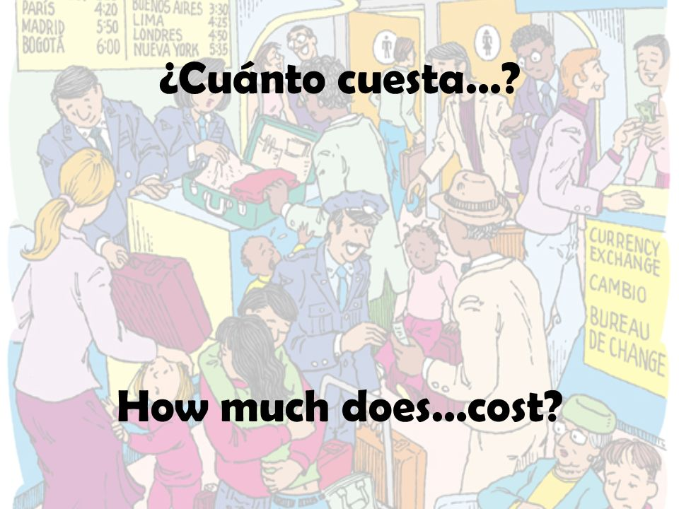 ¿Cuánto cuesta…? How much does…cost?