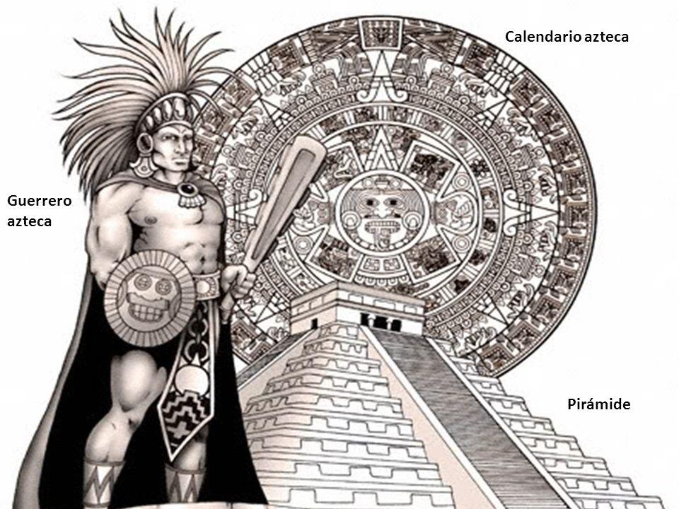 Calendario azteca Pirámide Guerrero azteca