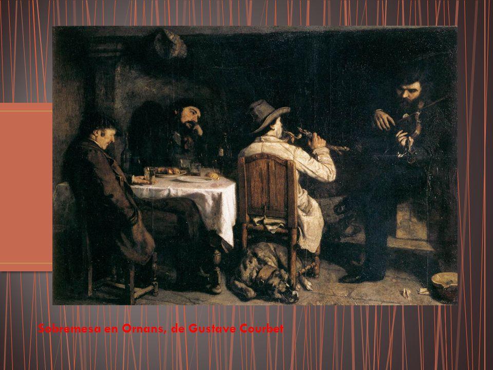 Sobremesa en Ornans, de Gustave Courbet