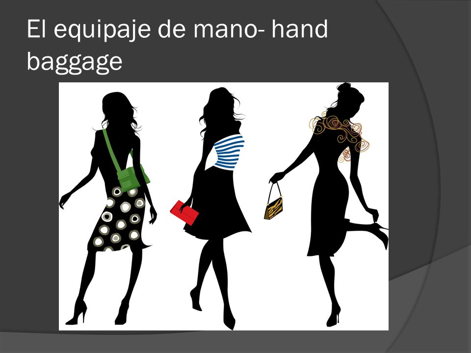 El equipaje de mano- hand baggage