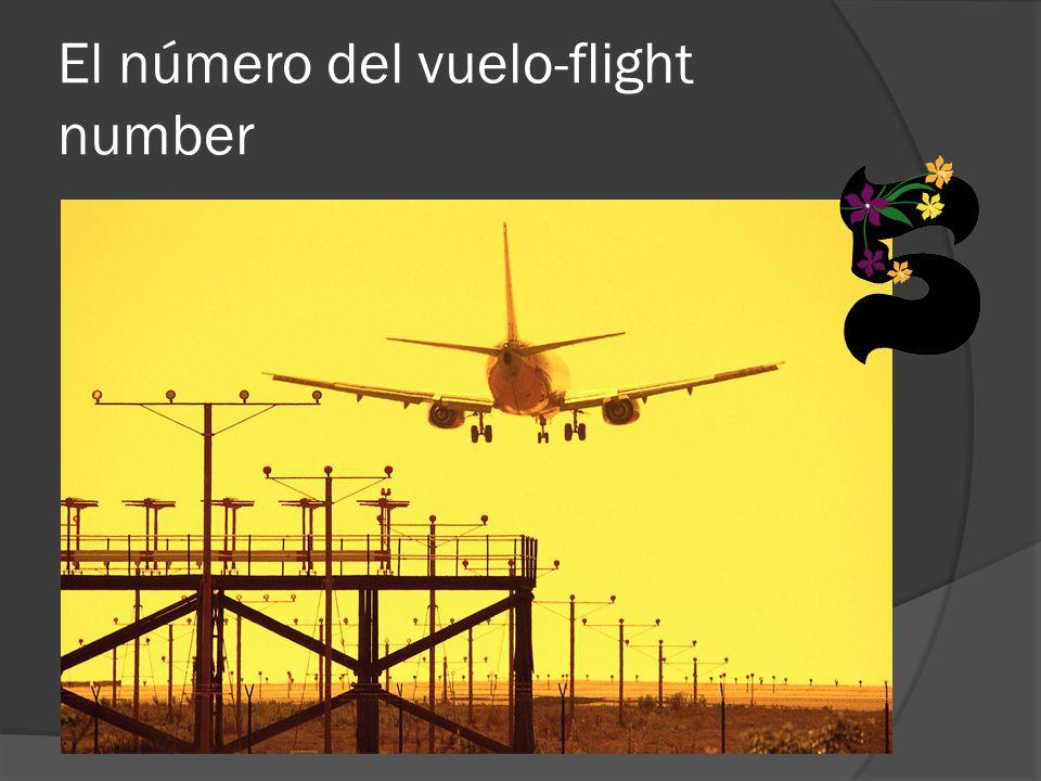 El número del vuelo-flight number