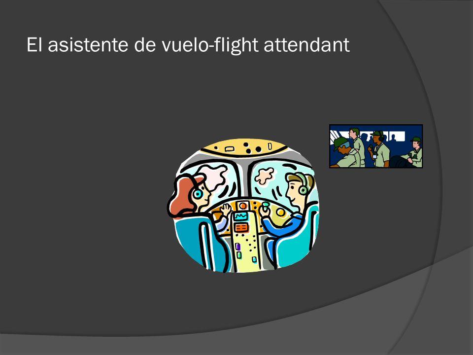 El asistente de vuelo-flight attendant