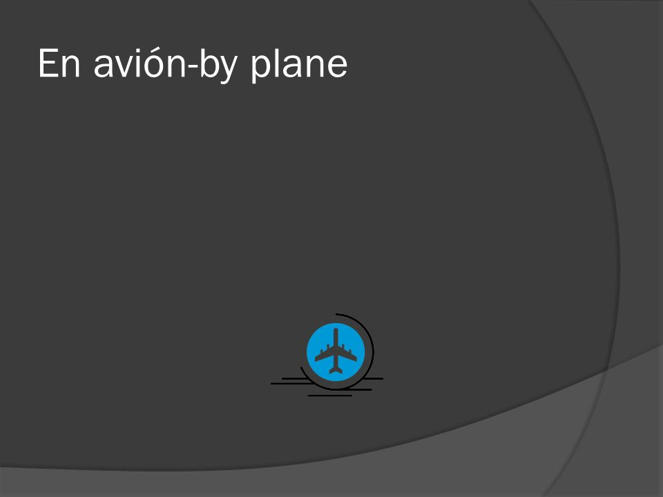 En avión-by plane