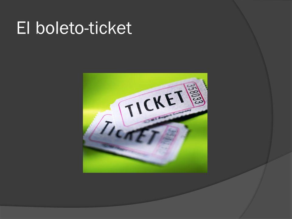 El boleto-ticket
