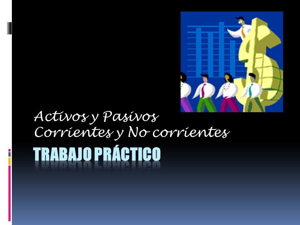 Activos y Pasivos Corrientes y No corrientes