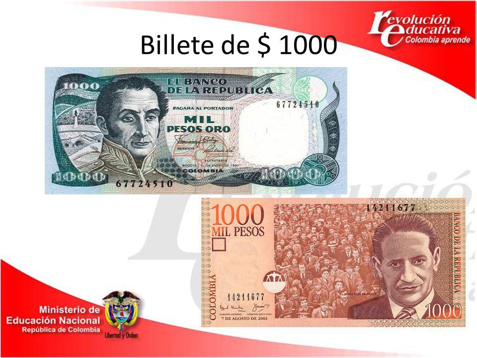 Billete de $ 1000