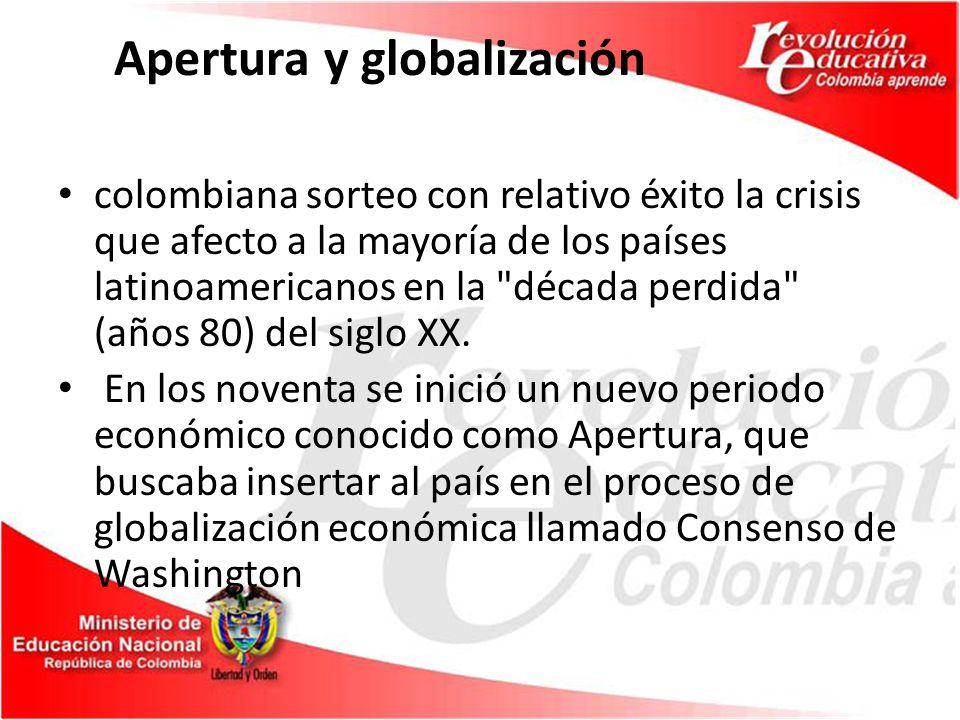 El Producto Interno Bruto (PIB) de Colombia para el año de 2005 fue aproximadamente 171 mil millones de dólares.