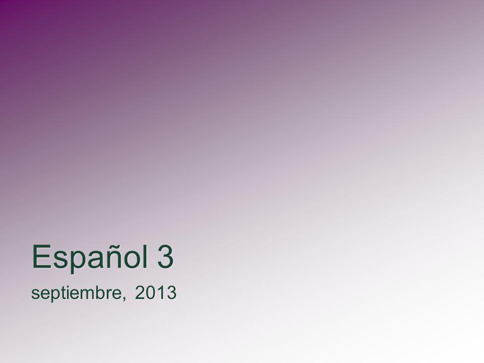 Español 3 septiembre, 2013