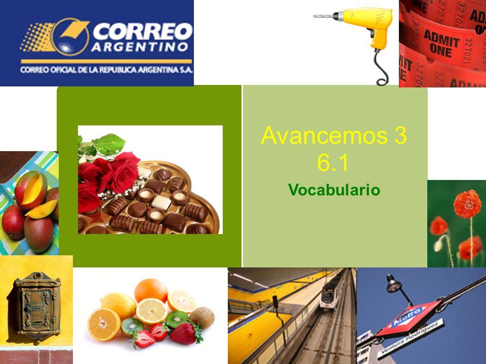 Avancemos 3 6.1 Vocabulario