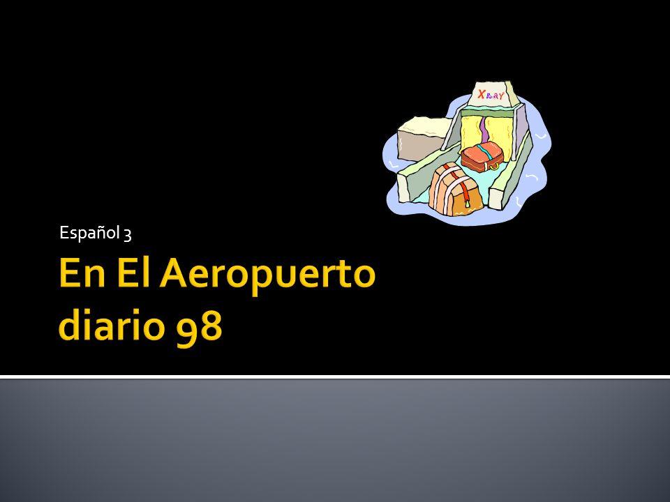1.Write 5 sentences in Spanish describing this trip.