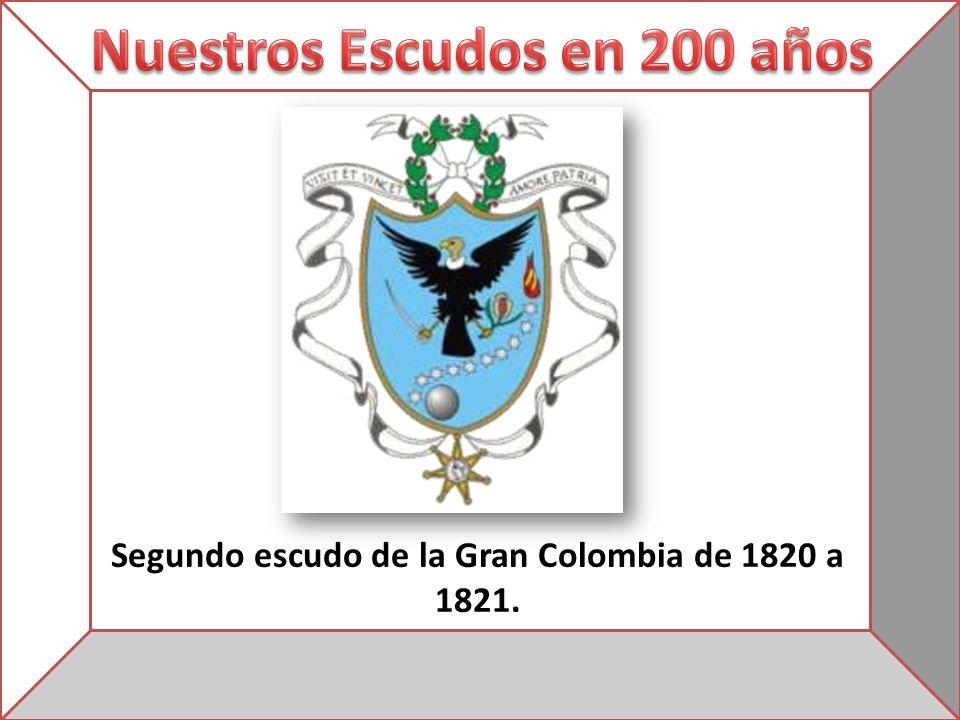 Segundo escudo de la Gran Colombia de 1820 a 1821.