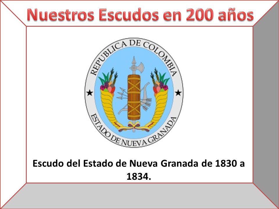 Escudo del Estado de Nueva Granada de 1830 a 1834.
