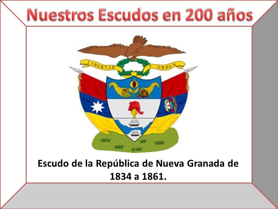 Escudo de la República de Nueva Granada de 1834 a 1861.