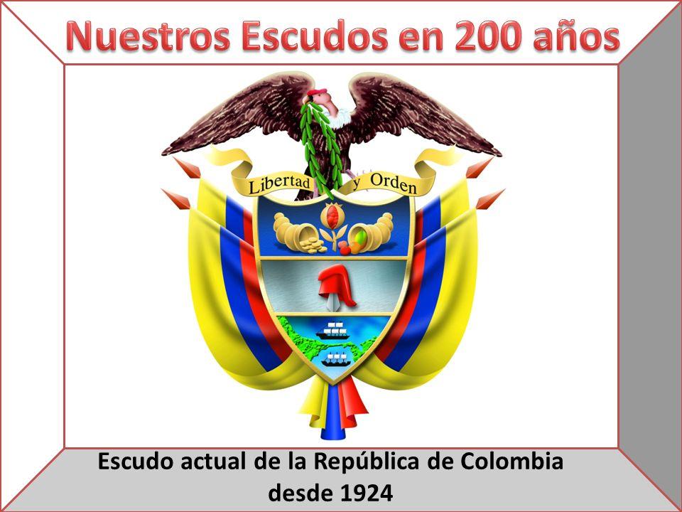 Escudo actual de la República de Colombia desde 1924